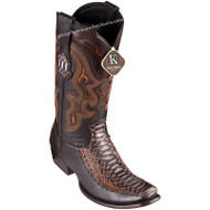 Men's King Exotic Python Boots With Deer Dubai Toe Handcrafted 479F5788