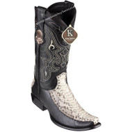 Men's King Exotic Python Boots With Deer Dubai Toe Handcrafted 479F5749