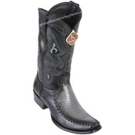 Men's King Exotic Teju Lizard Boots With Deer Dubai Toe Handcrafted 479F0738