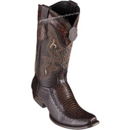 Men's King Exotic Teju Lizard Boots With Deer Dubai Toe Handcrafted 479F0716