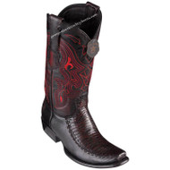 Men's King Exotic Teju Lizard Boots With Deer Dubai Toe Handcrafted 479F0718