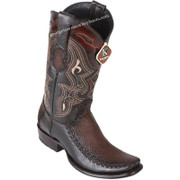 Men's King Exotic Sharkskin Boots With Deer Dubai Toe Handcrafted 479F0916