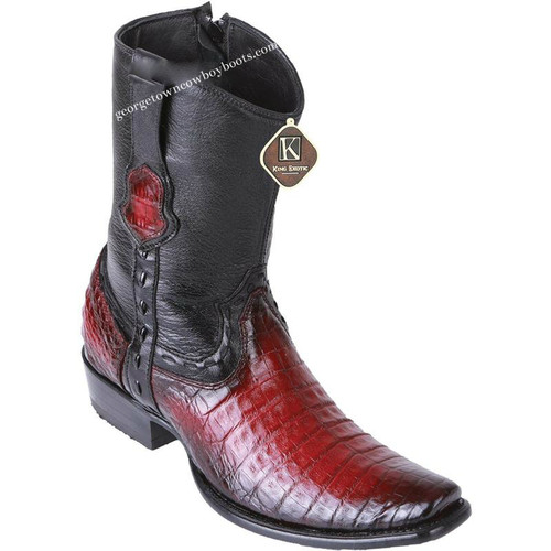 Men's King Exotic Caiman Belly Boots Dubai Toe Handcrafted 479B8243