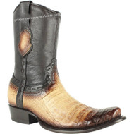 Men's King Exotic Fuscus Caiman Belly Boots With Inside Zipper Handcrafted 479B8215