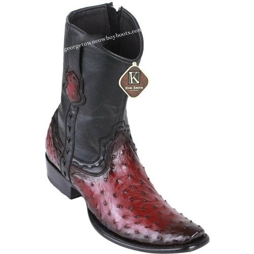 Men's King Exotic Ostrich Boots Dubai Toe Handcrafted 479B0343