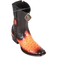 Men's King Exotic Ostrich Boots Dubai Toe Handcrafted 479B0301