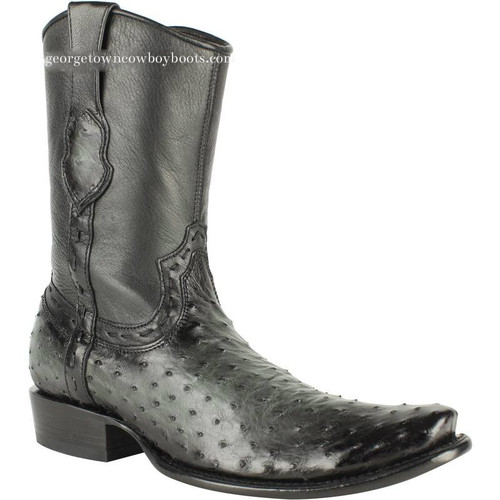Men's King Exotic Genuine Ostrich Boots Dubai Toe Handcrafted 479B0338
