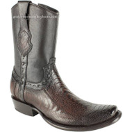 Men's King Exotic Genuine Ostrich Leg Boots Dubai Toe Handcrafted 479B0516