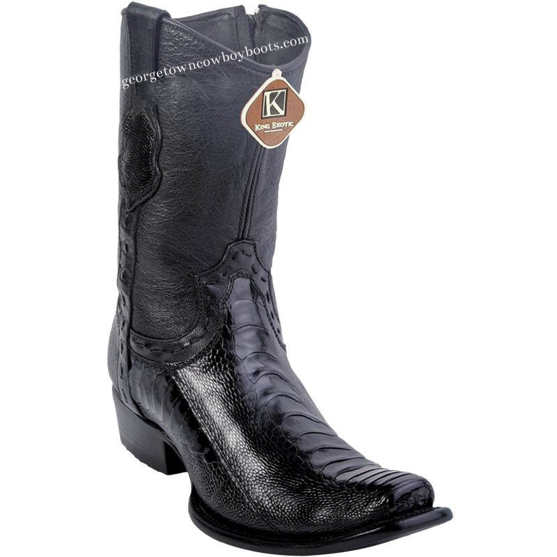 11608ab309a Men's King Exotic Ostrich Leg Boots Dubai Toe Handcrafted 479B0505