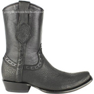 Men's King Exotic Sharkskin Boots With Inside Zipper Dubai Toe Handcrafted 479B0905
