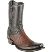 Men's King Exotic Sharkskin Boots With Inside Zipper Dubai Toe Handcrafted 479B0916