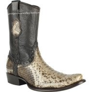 Men's King Exotic Python Boots Dubai Toe Handcrafted 479B5785