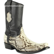 Men's King Exotic Python Boots Dubai Toe Handcrafted 479B5749