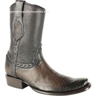 Men's King Exotic Lizard Boots With Inside Zipper Dubai Toe Handcrafted 479B0716