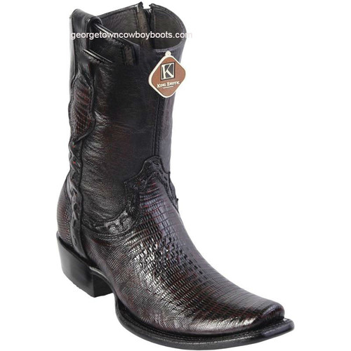 Men's King Exotic Teju Lizard Boots Dubai Toe Handcrafted 479B0718