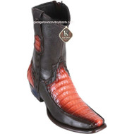 Men's King Exotic Caiman Belly Boots With Deer Dubai Toe Handcrafted 479BF8257