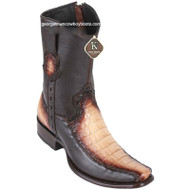 Men's King Exotic Caiman Belly Boots With Deer Dubai Toe Handcrafted 479BF8215