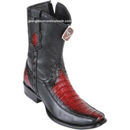 Men's King Exotic Caiman Belly Boots With Deer Dubai Toe Handcrafted 479BF8243