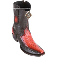 Men's King Exotic Ostrich Boots With Deer Dubai Toe Handcrafted 479BF0357