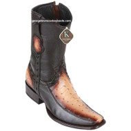 Men's King Exotic Ostrich Boots With Deer Dubai Toe Handcrafted 479BF0315