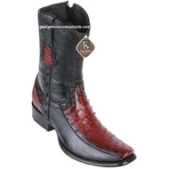 Men's King Exotic Ostrich Boots With Deer Dubai Toe Handcrafted 479BF0343