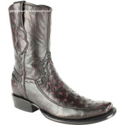 Men's King Exotic Genuine Ostrich Boots Dubai Toe Handcrafted 479BF0318
