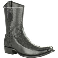 Men's King Exotic Stingray Boots Full Rowstone Dubai Toe Handmade 479BF1105