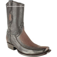 Men's King Exotic Sharkskin Boots With Inside Zipper Dubai Toe Handcrafted 479BF0916