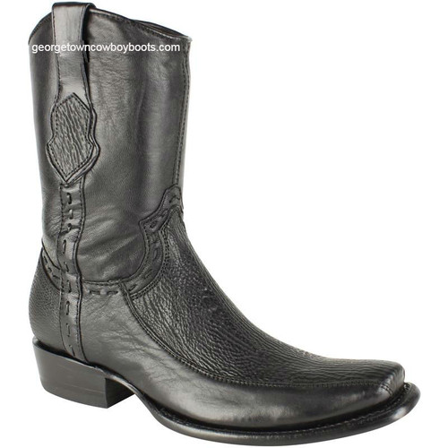 Men's King Exotic Sharkskin Boots With Inside Zipper Dubai Toe Handcrafted 479BF0905