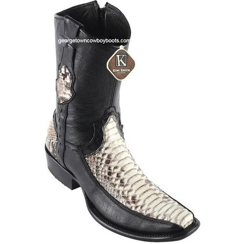 Men's King Exotic Python Boots With Deer Dubai Toe Handcrafted 479BF5749
