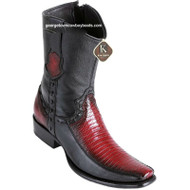 Men's King Exotic Teju Lizard Boots With Deer Dubai Toe Handcrafted 479BF0743