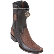 Men's King Exotic Teju Lizard Boots With Deer Dubai Toe Handcrafted 479BF0735