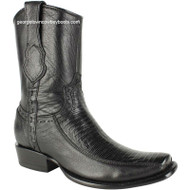 Men's King Exotic Lizard Boots With Inside Zipper Dubai Toe Handcrafted 479BF0705