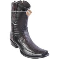 Men's King Exotic Teju Lizard Boots With Deer Dubai Toe Handcrafted 479BF0718
