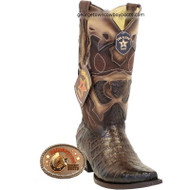 Men's Los Altos Caiman Belly Snip Toe Boots Handcrafted 94R8216