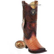 Men's Los Altos Caiman Belly Snip Toe Boots Handcrafted 94R8257