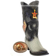 Men's Los Altos Caiman Belly Snip Toe Boots Handcrafted 94R8238