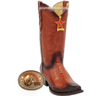 Men's Los Altos Ostrich Leg Snip Toe Boots Handcrafted 940557