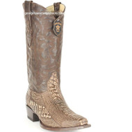 Men's Los Altos Ostrich Leg Snip Toe Boots Handcrafted 940535