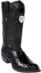 Wild West Mens Black Ostrich Boots 2990305