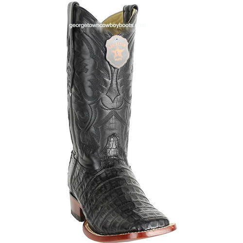 Men's Los Altos Caiman Belly Square Toe Boots Handcrafted 8228205