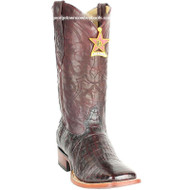 Men's Los Altos Caiman Belly Square Toe Boots Handcrafted 8228218
