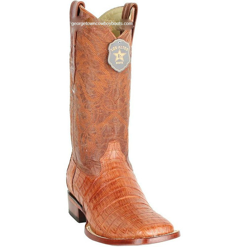 Men's Los Altos Caiman Belly Square Toe Boots Handcrafted 8228203
