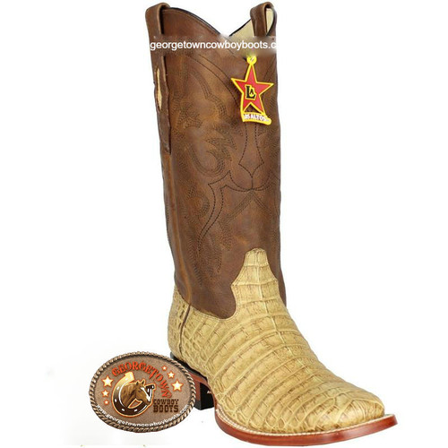 Men's Los Altos Caiman Belly Square Toe Boots Handcrafted 822G8251