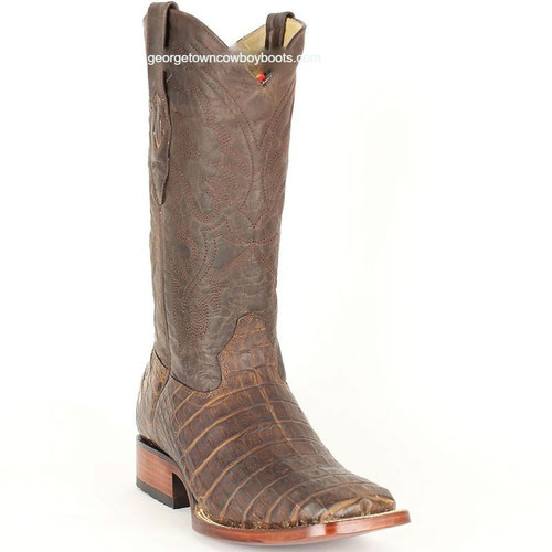 Men's Los Altos Caiman Belly Square Toe Boots Handcrafted 822G8207