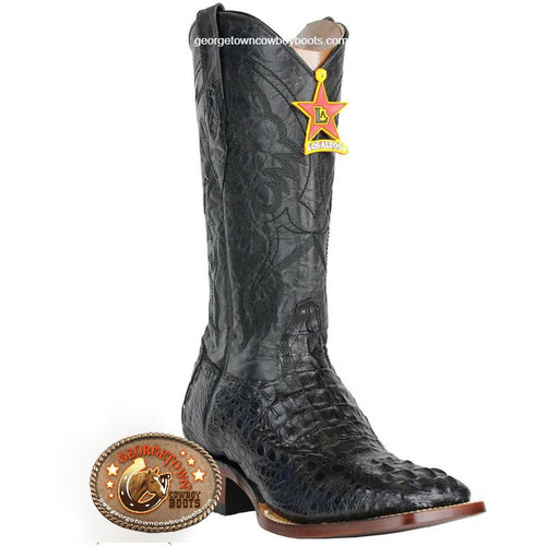 Men's Los Altos Square Toe Caiman Hornback Boots 8220205