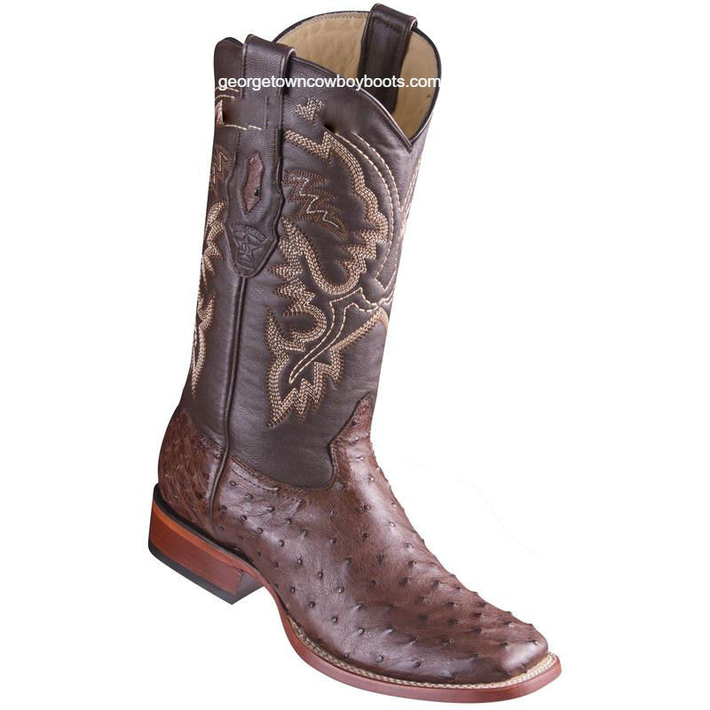 b9b08f0f54f Men's Los Altos Full Quill Ostrich Boots Square Toe Handcrafted 8220359