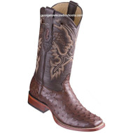 Men's Los Altos Full Quill Ostrich Boots Square Toe Handcrafted 8220359