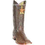 Men's Los Altos Full Quill Ostrich Square Toe Boots Handcrafted 8220307
