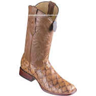 Men's Los Altos Genuine Pirarucu Fish Boots Handcrafted 8221011